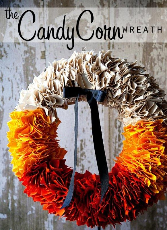 candycorn fall wreath