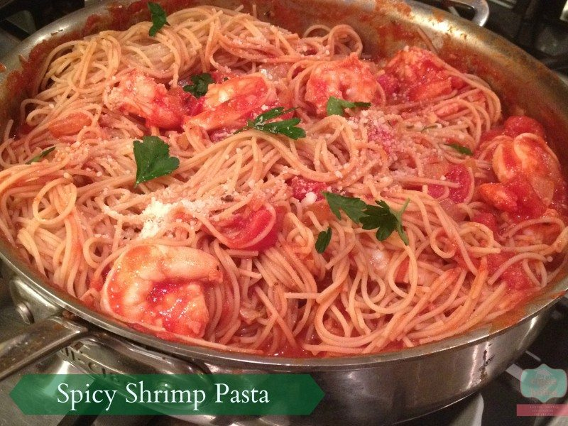 Spicy Shrimp Pasta Recipe with Barilla Pasta #Pastanight - Close To ...